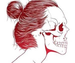 art, drawings, and hair image