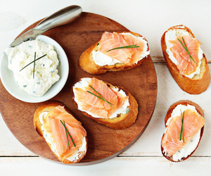 salmon and bread image