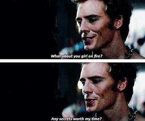 finnick odair, the hunger games, and catching fire image