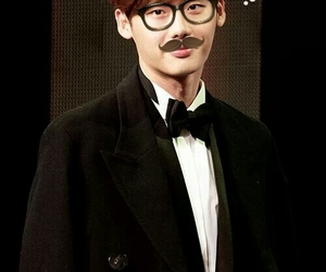 funny, korean actor, and lee jong suk image