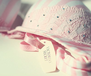 pink, Victoria's Secret, and bra image