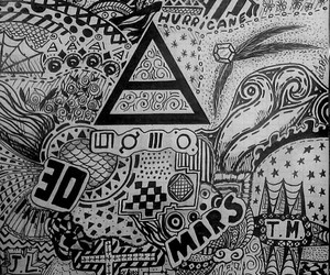 30 seconds to mars, beautiful, and drawing image