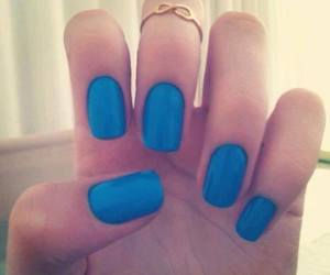 nails, blue, and infinity image