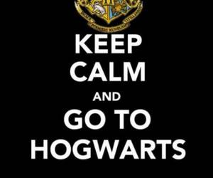 hogwarts, harry potter, and keep calm image