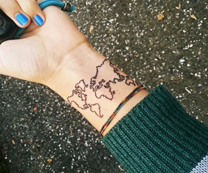 tattoo, world, and hipster image