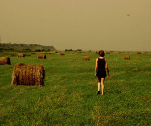 farm, field, and girl image