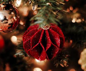 christmas, christmas tree, and red image