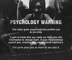 game, silent hill, and warning image