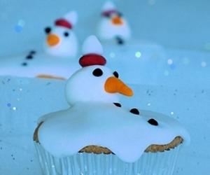 cupcake, christmas, and snow image