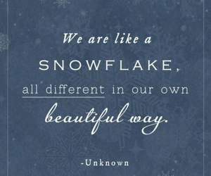 quote, snowflake, and beautiful image