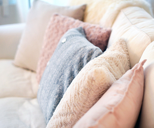 pillow, pink, and room image