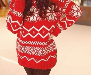 red and sweater image