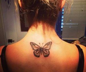 pretty, butterfly, and tattoo image