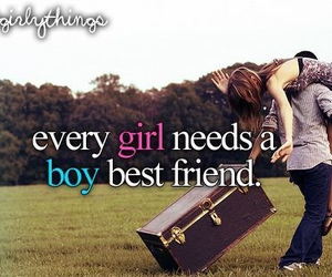 girl, boy, and best friends image
