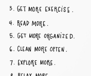 clean, exercise, and organised image