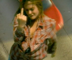90's, 90s, and middle finger image