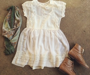 dress, boots, and outfit image