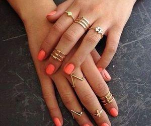 fashion, gold, and nails image