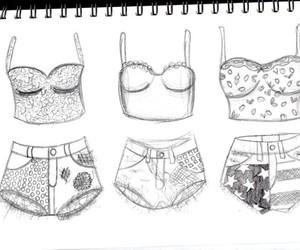 fashion, drawing, and shorts image
