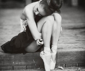 balet, ballerina, and black and white image