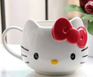 cup and hello kitty image