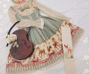 delicate, dress, and girly image
