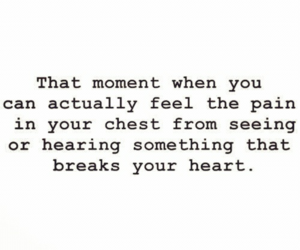 pain, quotes, and heart image