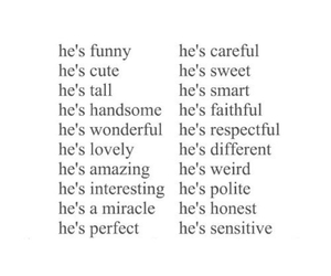 him, boyfriend, and love image