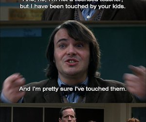 funny, school of rock, and lol image