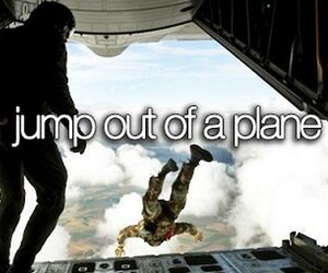 jump, plane, and bucket list image