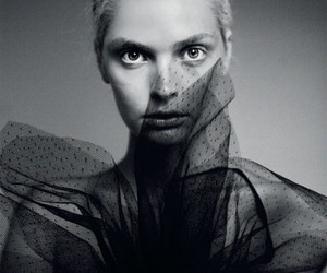 black and white, tulle, and gertrud hegelund image