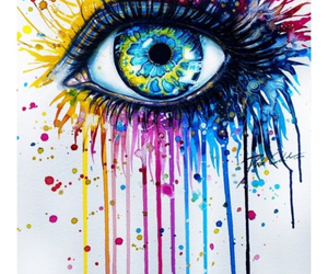 art, eyes, and colorful image