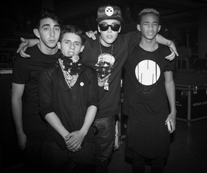 justin bieber, jaden smith, and moises arias image
