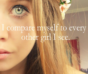 girl, compare, and quote image