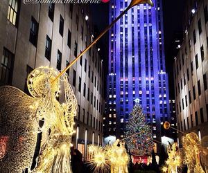 christmas, city, and holidays image