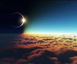 beautiful, clouds, and solar eclipse image