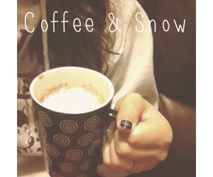 coffee and snow image