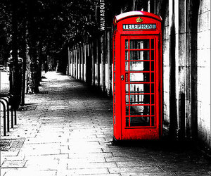 london, photography, and red image