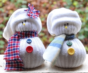 cute, christmas, and snowman image