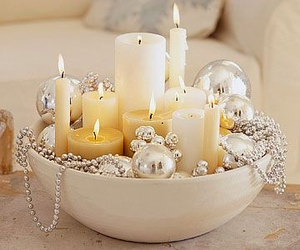 candles, christmas, and decor image