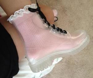 boots, pink, and girl image