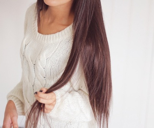 brunette, girl, and healthy image