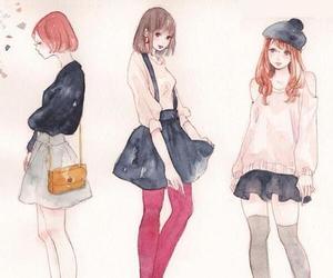 anime girl, illustration, and kawaii image