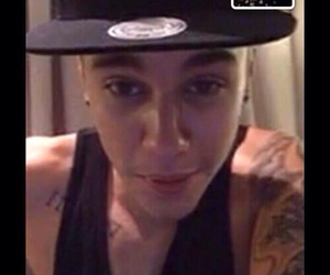 justin bieber, girl, and facetime image