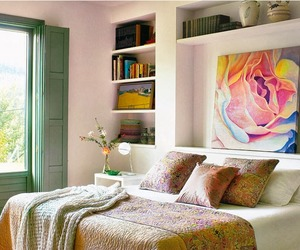 bedroom, home decorating, and interior design image