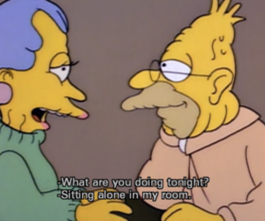 simpsons, alone, and the simpsons image