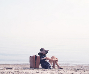 girl, beach, and travel image