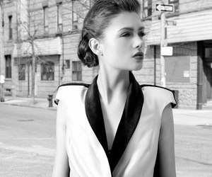 blackandwhite, fashion, and girl image