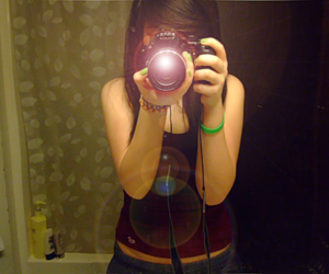 girl, camera, and cute image