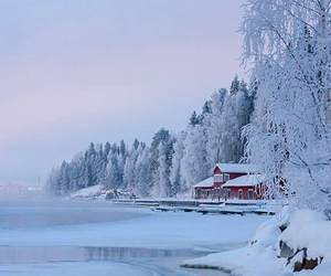 beautiful, snow, and view image